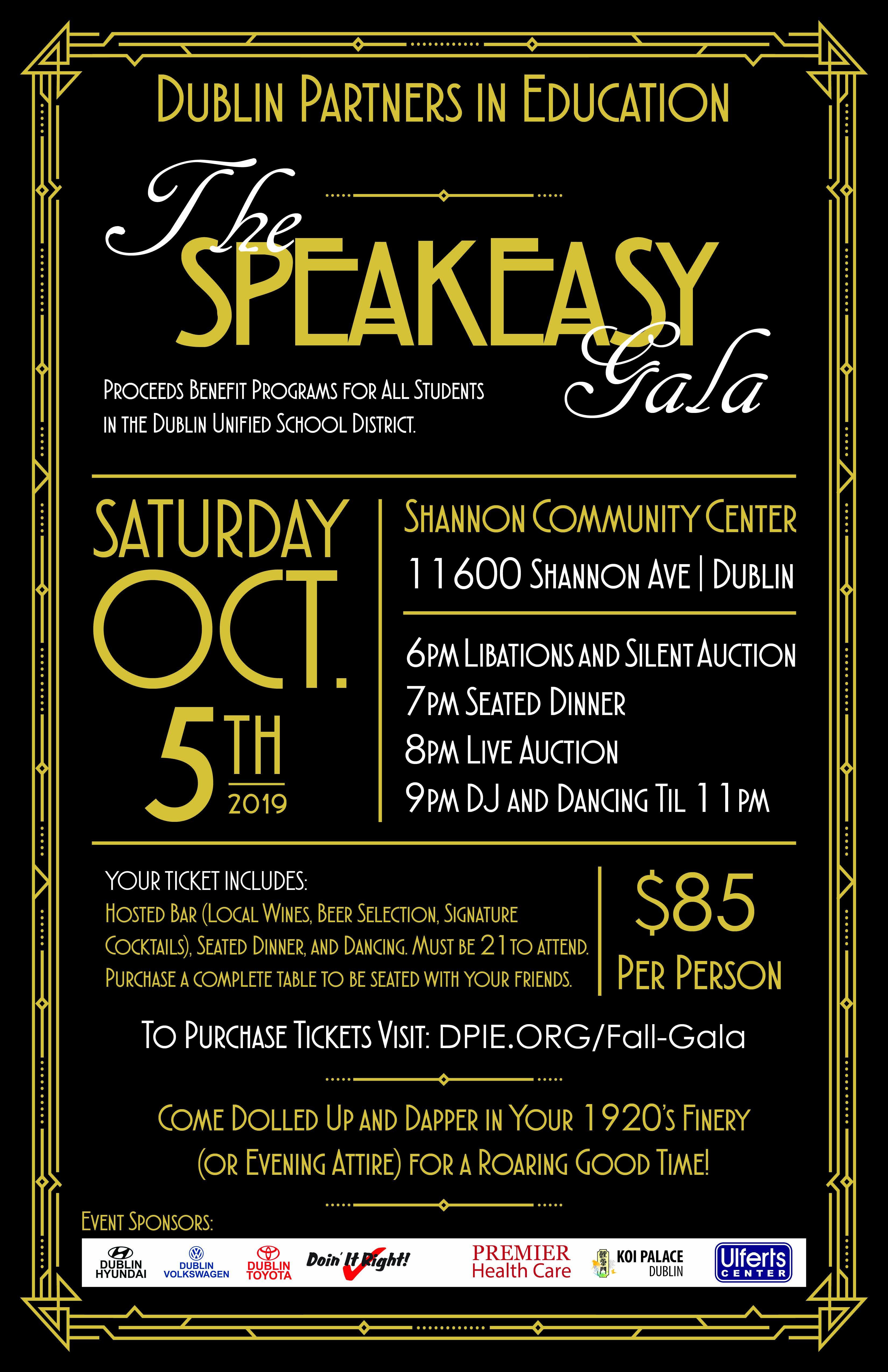 The Speakeasy Gala Poster